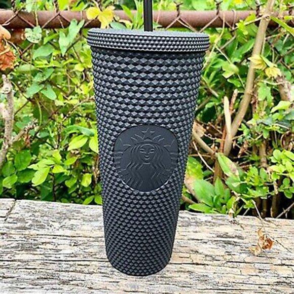 Starbucks Matte Black Soft-Touch Bling Cup 24OZ